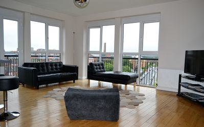 Photo for BELFAST 3 BED PENTHOUSE APARTMENT ~  Stunning City Views Free Parking Free Wi Fi