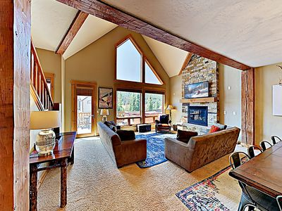 Photo for New Listing! Upscale Retreat w/ Private Mountain-View Hot Tub - Walk to Lift