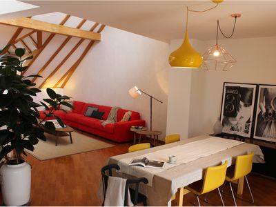 Photo for Exclusive penthouse with roof terrace in the heart of Bolzano