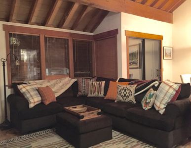 Comfy family room to watch TV,  play games, relax, put your feet up and enjoy!