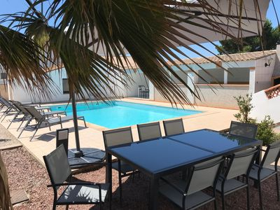 Photo for Villa with pool, Grau d'Agde 900 m from the beach
