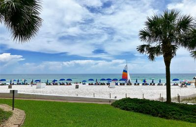 Photo for Condo w/Gulf View, Beach Front, Pool-Side Patio, & More