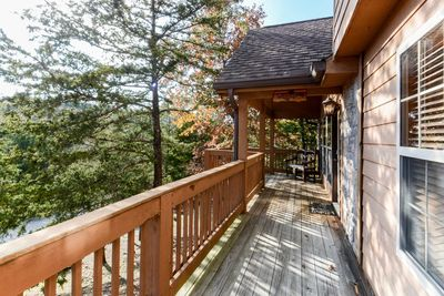 Enjoy the incredible Ozarks from the porch - nothing like the outdoors in any season.