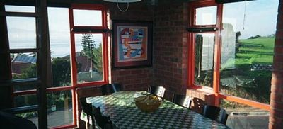 Dining Area with Golf Course viewed in background