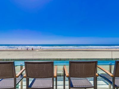Photo for 🏖 OCEANFRONT ☀️ | ON THE BOARDWALK | Luxury Family Beach Condo!