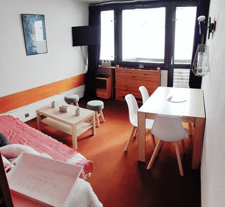 Photo for LA PLAGNE Studio cabin 26 m2 4 people, quiet, balcony facing south, view piste