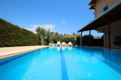 Private pool deck with 10m x 5m pool