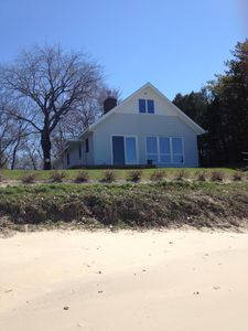 Photo for Updated Chalet with Private Beach on Caseville's Sand Point