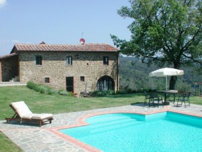 Photo for Podere Ciggiano is a lovely stone farmhouse set in a beautiful and panoramic position near the small village of Ciggiano in the Province of Arezzo. The house dates back to the end of the 700's and has been restructured respecting the tuscan tradition.