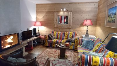 Photo for Warm Chalet 9 persons to the slopes and 5 minutes from shops