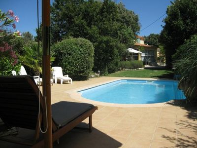 Photo for Traditional Provencal villa, heated pool on landscaped enclosed ground