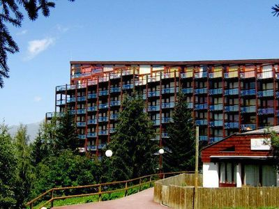 Photo for 100m from resort center, 9th floor, view mountain, balcony, 25m², Les Arcs