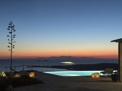 Photo for Luxury Villa Delion overlooks the bay with stunning vistas night and day