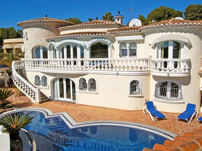 Photo for This 4-bedroom villa for up to 8 guests is located in Moraira and has a private swimming pool, air-c