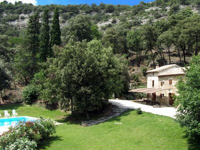 Photo for 18th century country house on beautiful private domain of 8 ha with private Pool