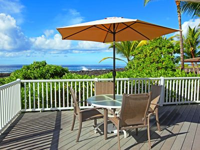 Enjoy morning coffee and evening sunsets from your private Lanai.