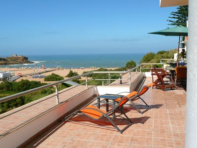 Photo for Apartment on the beach with huge dream terrace, South facing, direct beach acces