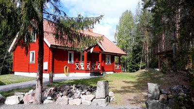 Photo for Dream vacation at the lake with sauna, fire, boat, WLAN, 3 bedrooms, carport