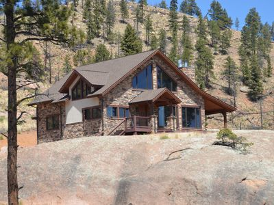 Photo for Secluded mountain home on 40 acres with spectacular views!