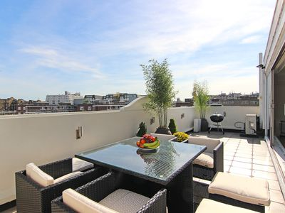 Photo for Amazing, large Knightsbridge Penthouse 3 Bed 2 Bath with roof terraces Free WiFi