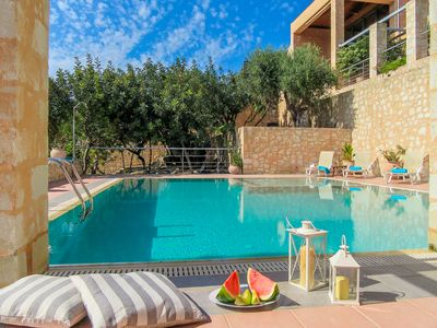 Photo for Athina - Luxury Stone Built Villa with Private Pool - Maid Service - Sleeps 10