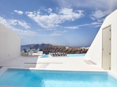 Photo for Sugarmoon Suite Santorini with Pool and sublime views of the Aegean Sea
