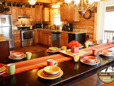 Photo for Cheapest rates! 5 bedroom cabin, SECONDS from downtown Gatlinburg! 30% OFF thru May 21st!
