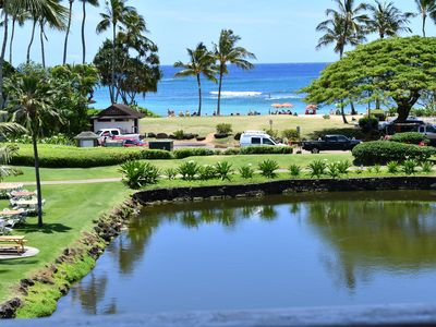 Photo for POIPU PENTHOUSE SUITE 216- KILLER OCEAN over LAGOON VIEW - BEACHFRONT PROPERTY