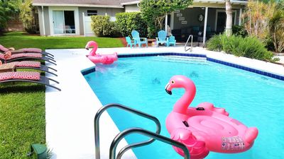 Photo for HUGE pool, 3 Bedrooms, Sleeps 6, Free WiFi, Minutes to Beach-Flamingo's Welcome!