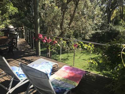 Lounge in the sun on the private back verandah