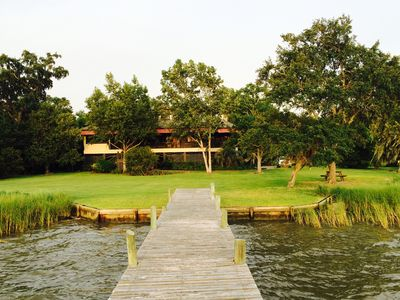 Photo for Magnificent Bay Villa on Weeks Bay Estuary.  Accommodates 15 people.