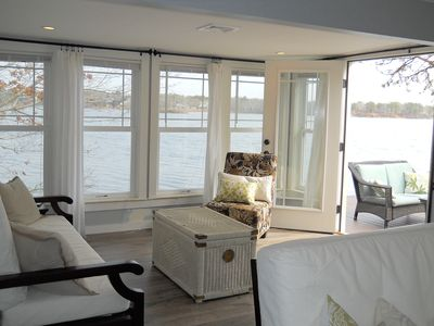 double french doors onto outdoor patio
