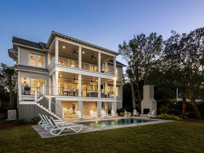 Photo for WATERFRONT/NEW HOME w/ DEEP WATER DOCK! Intracoastal Luxury Living; 5BRw/ Pool