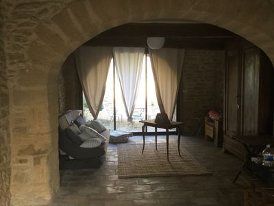 Photo for Beautiful stone house in the village of Vers Pont du Gard