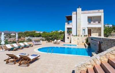 Photo for 5 Bedroom Luxury Villa With Pool, Childrens Pool, Sea View And Near The Beach