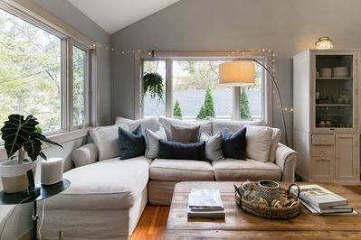 Plan your next vacation at our Sag Harbor cottage, just steps from the beach!