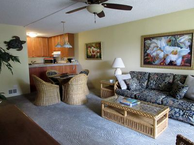 Photo for Updated Condo Steps Away from Beach with a/c throughout!