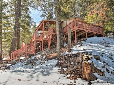 Photo for Rustic Cloudcroft Cabin w/Deck-Near Skiing & Fishing!