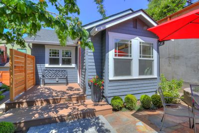 This charming bungalow is a home away from home.