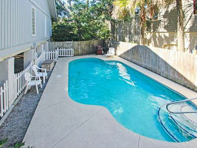 Photo for Play in your own private pool and hot tub at this dog-friendly beach getaway!