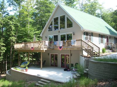 Photo for Waterfront Chalet Nestled Between Hamlin Lake And The Manistee National Forest