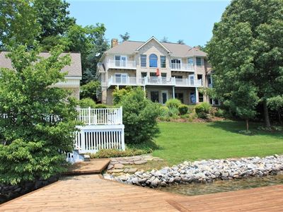 Photo for Tib's Treasure -  Spectacular Waterfront Home with Wide Water Views and Large Private Dock