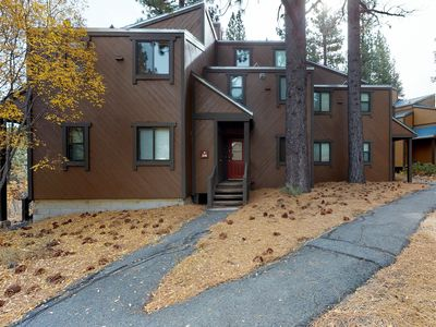 Photo for NEW LISTING! Chic mountain condo with shared pool & hot tub, walk to the slopes