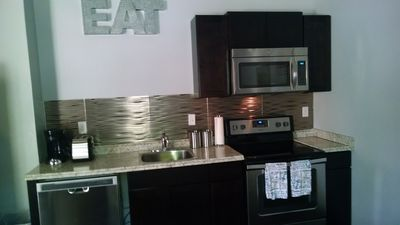 Photo for Brand New Downtown Condo With 1 Bedroom 1 Bath and Full Kitchen.  Sleeps 6.