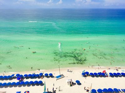 Balcony 9th floor direct Gulf front views - FREE '19 Beach Service for our guests