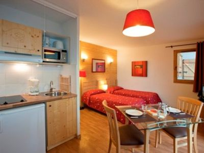 Photo for Beautiful studio for 2 persons. A bright living room with  double bed, equipped kitchen with dining