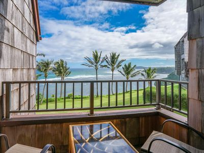 Photo for NEW LISTING! Oceanfront condo w/ shared pool, WiFi, full kitchen.