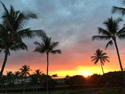 Photo for BEAUTIFUL SUNSET VIEWS!    VISTA WAIKOLOA A202 - 2 bdrm 2.5 bath