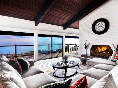 Photo for Laguna Beach Mid Century Ocean View Home with Pool, Amazing Catalina and Sunset Views!
