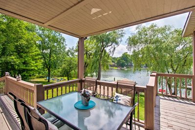 Enjoy al fresco meals on the private furnished deck in the summer.
